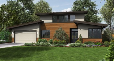 The Caldersyke Contemporary House Plans 21135  | The Caldersyke: Fifties Modern Contemporary House Plans