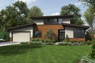 Front Rendering of Mascord House Plan 21135 - The Caldersyke