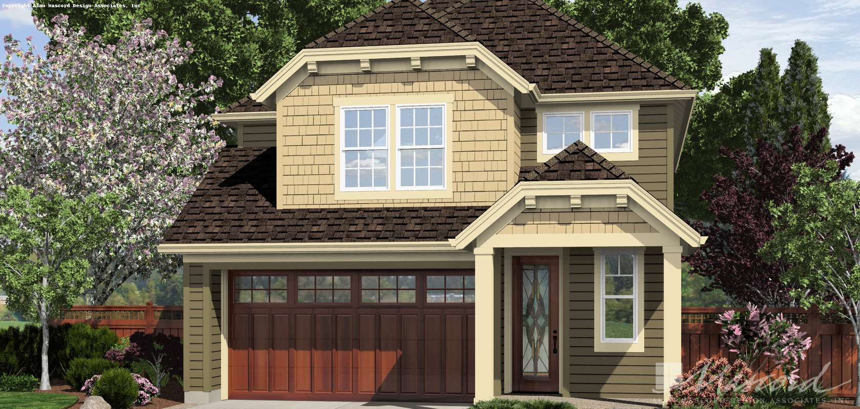 Mascord House Plan 21136A: The Gloucester