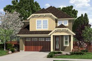 Front Rendering of Mascord House Plan 21136A - The Gloucester