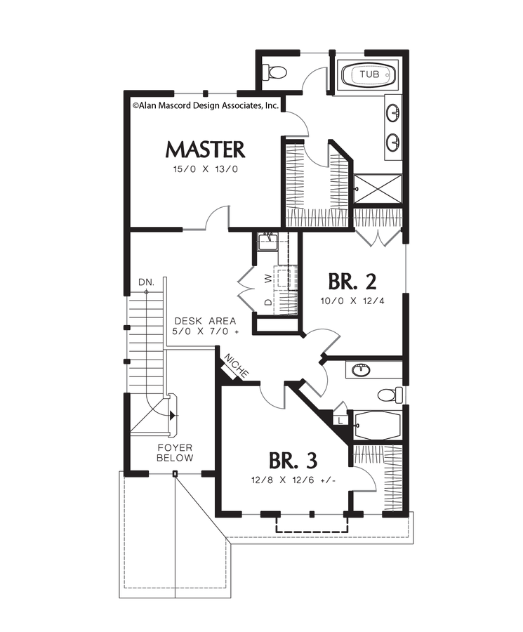 Image for Waldsport-Raise Your Family in a Beautiful Traditional Home  -Upper Floor Plan