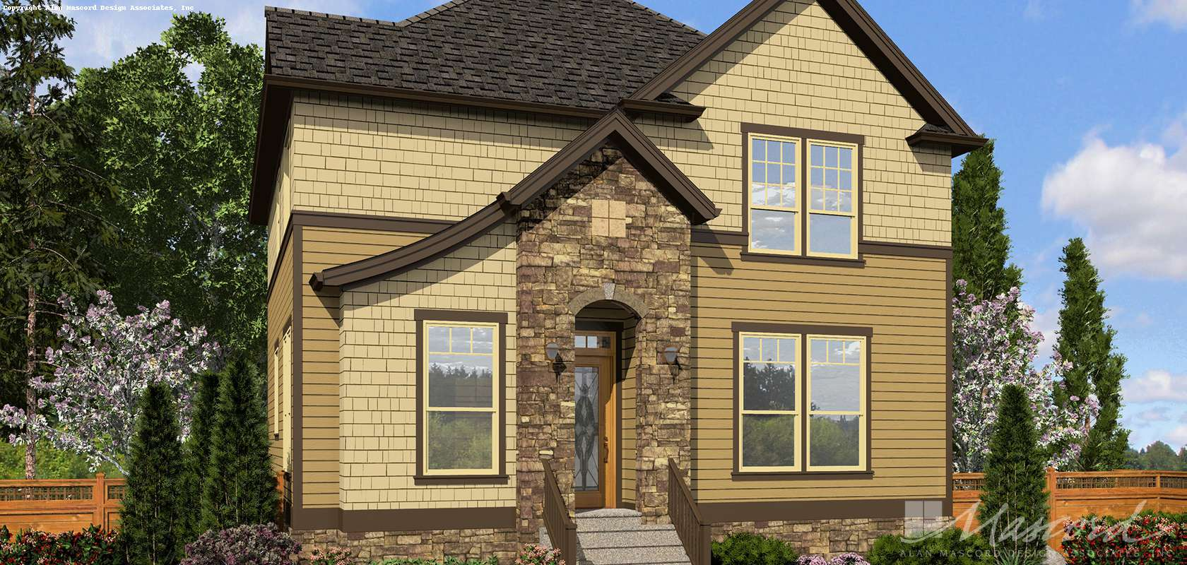 Mascord House Plan 21139: The Hilldale