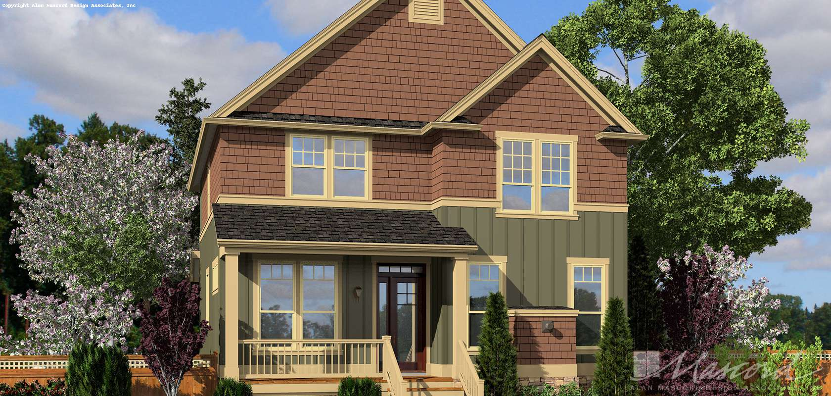 Mascord House Plan 21139A: The Fountainview