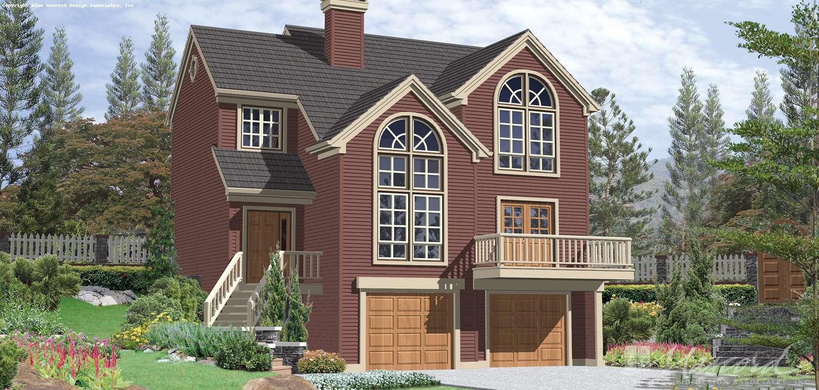 Mascord House Plan 2113A: The Everett
