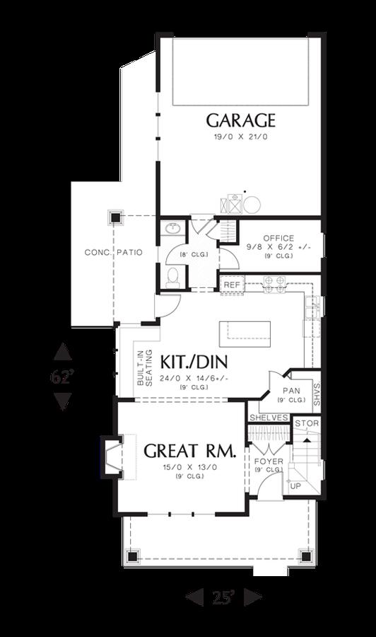 Image for Florette-Rear Garage, Charming Curb Appeal-Main Floor Plan