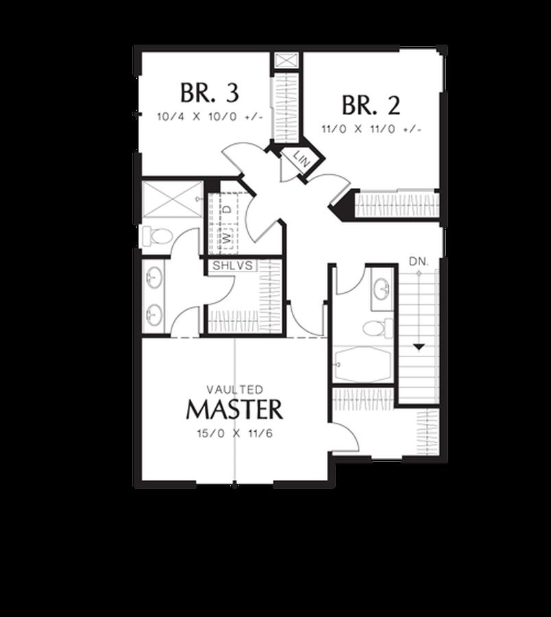 Image for Florette-Rear Garage, Charming Curb Appeal-Upper Floor Plan
