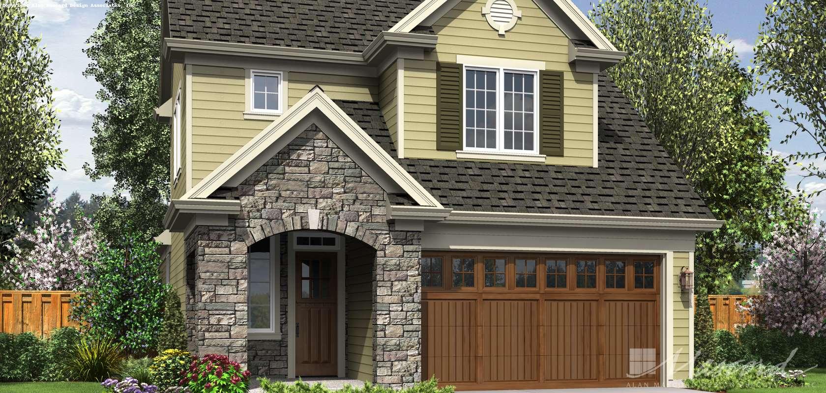 Mascord House Plan 21144: The Barberton