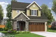 Front Rendering of Mascord House Plan 21144 - The Barberton