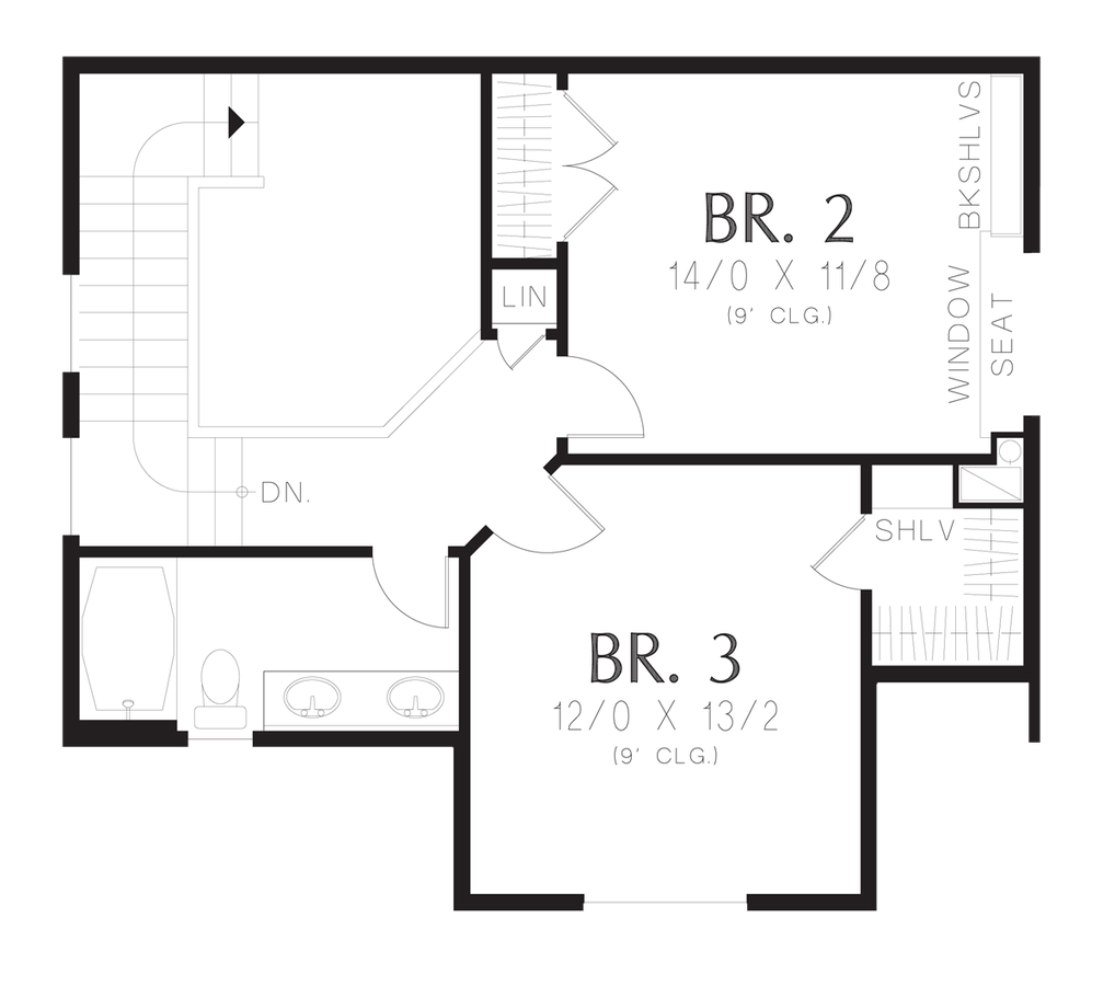 Cottage house plan 21144 the barberton 1712 sqft 3 beds for Traditional open floor plans