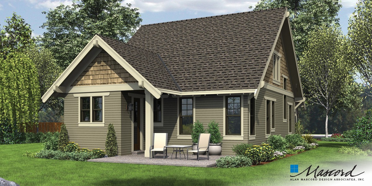 Image for Morris-Craftsman Bungalow with Open Floor Plan and Loft-Rear Rendering