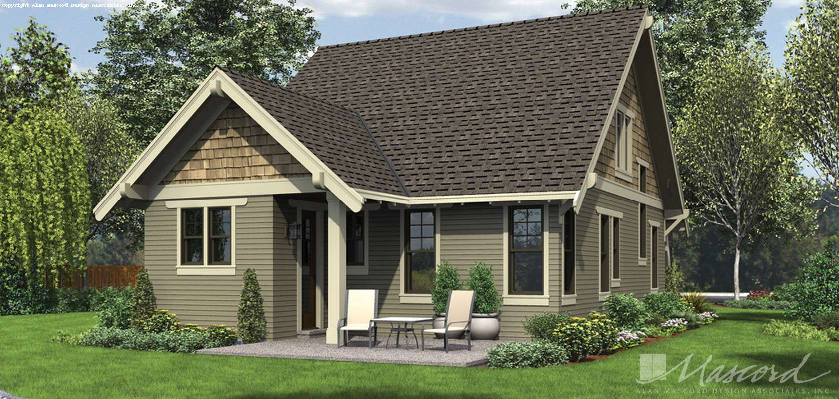 Mascord House Plan 21145: The Morris