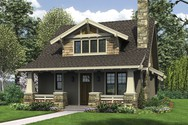 Front Rendering of Mascord House Plan 21145 - The Morris