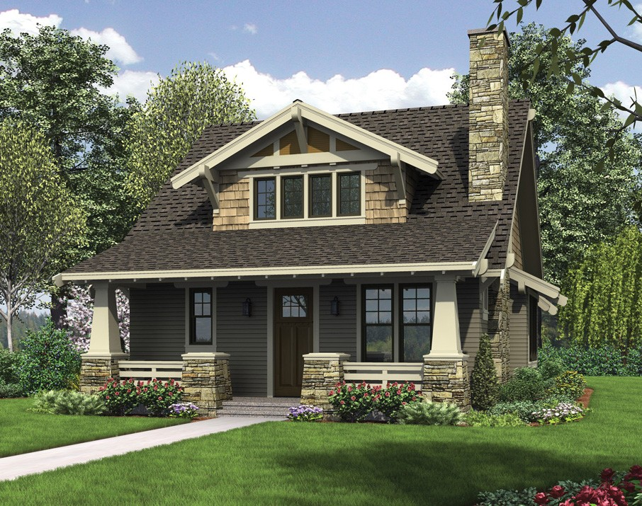 The morris a gorgeous craftsman bungalow design with loft for Colorado style house plans