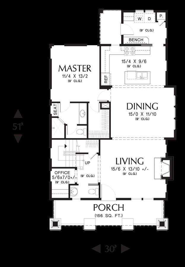 cottage house plan 21145 the morris 1777 sqft 3 beds 2 1 baths. Black Bedroom Furniture Sets. Home Design Ideas