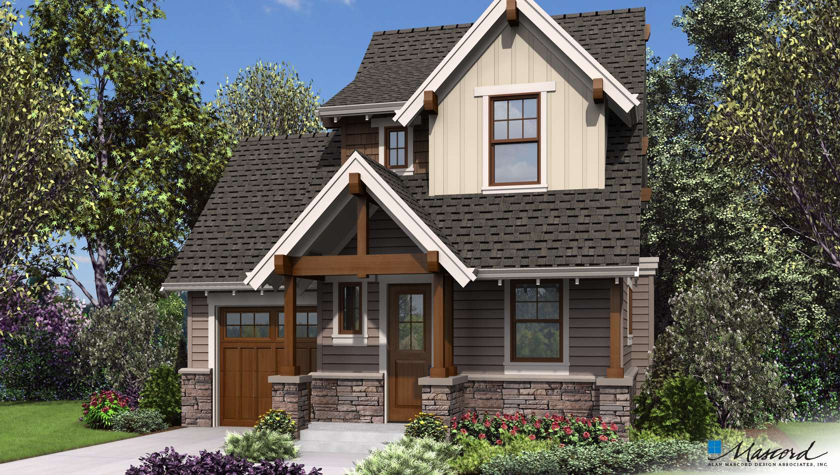 Mascord House Plan 21148: The Montreux
