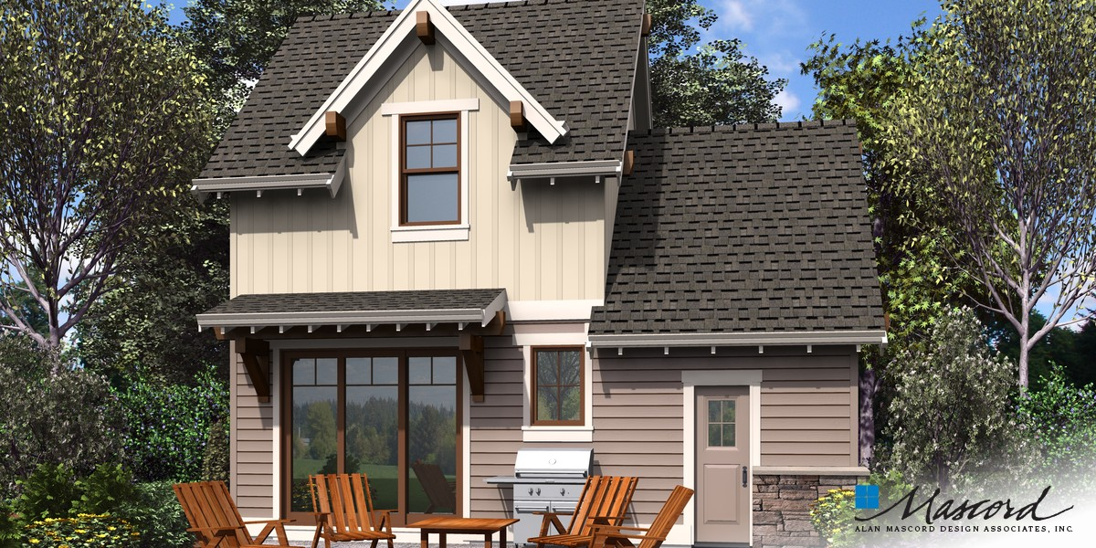 Image for Montreux-Super Cute Tiny Home Seeks Homesteader to Love-Rear Rendering