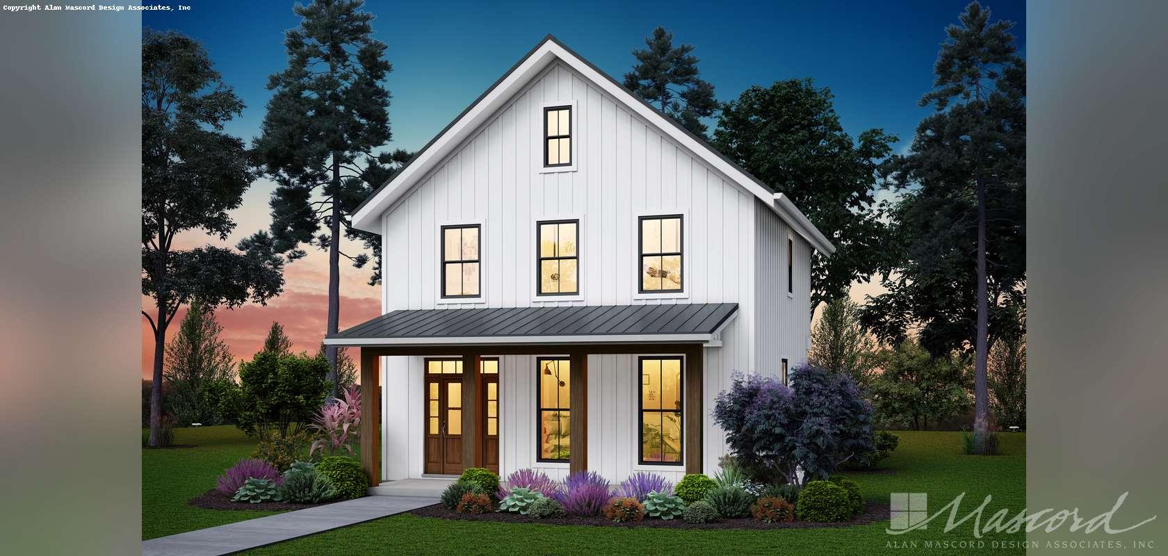 Mascord House Plan 21149A: The Mahoney