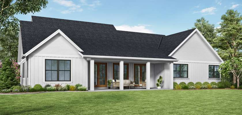 Mascord House Plan 21151A: The Cary