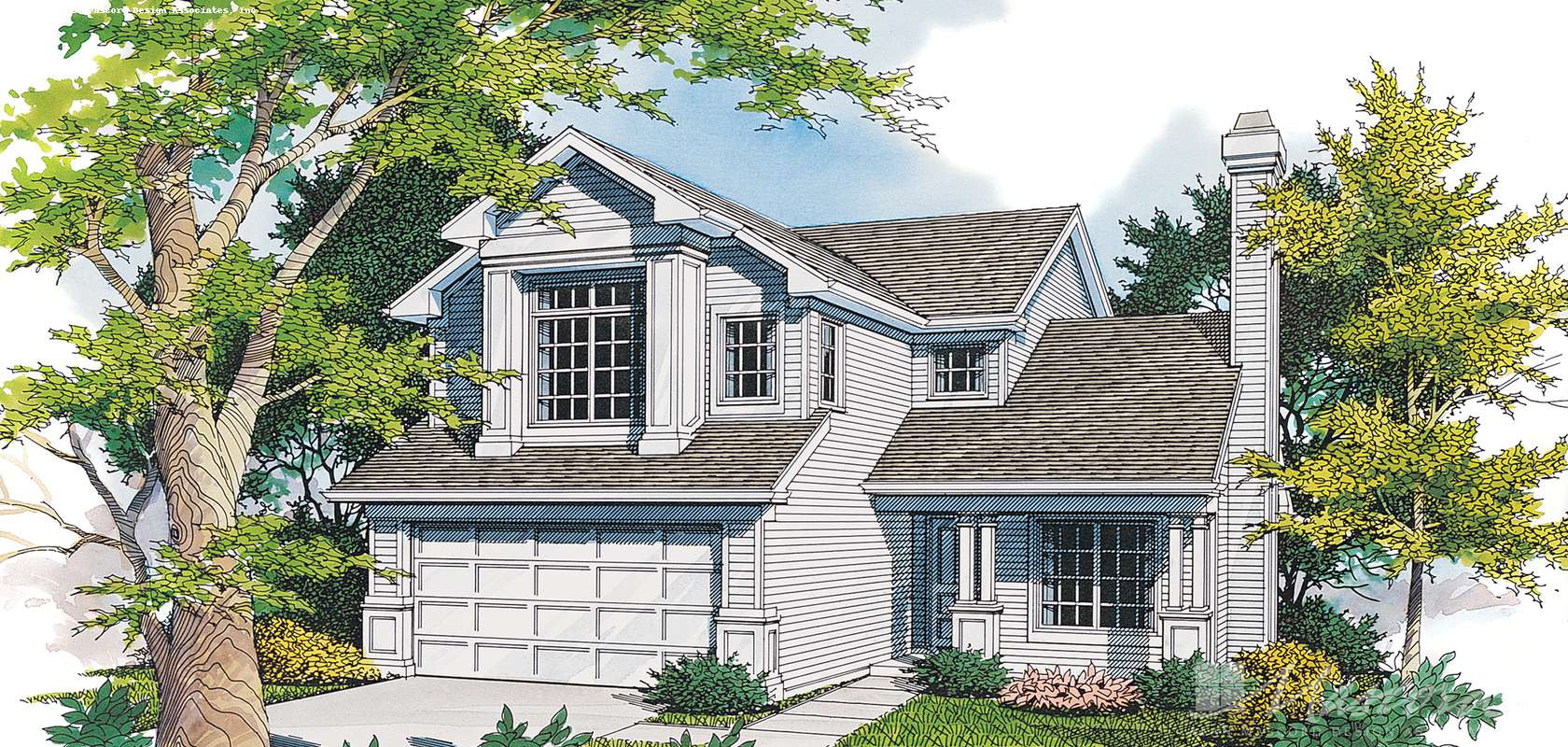 Mascord House Plan B2116B: The Donovan