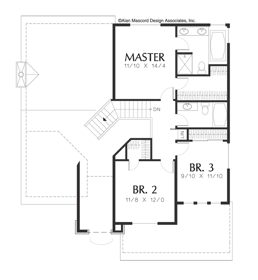 Mascord House Plan 2120c The Larson