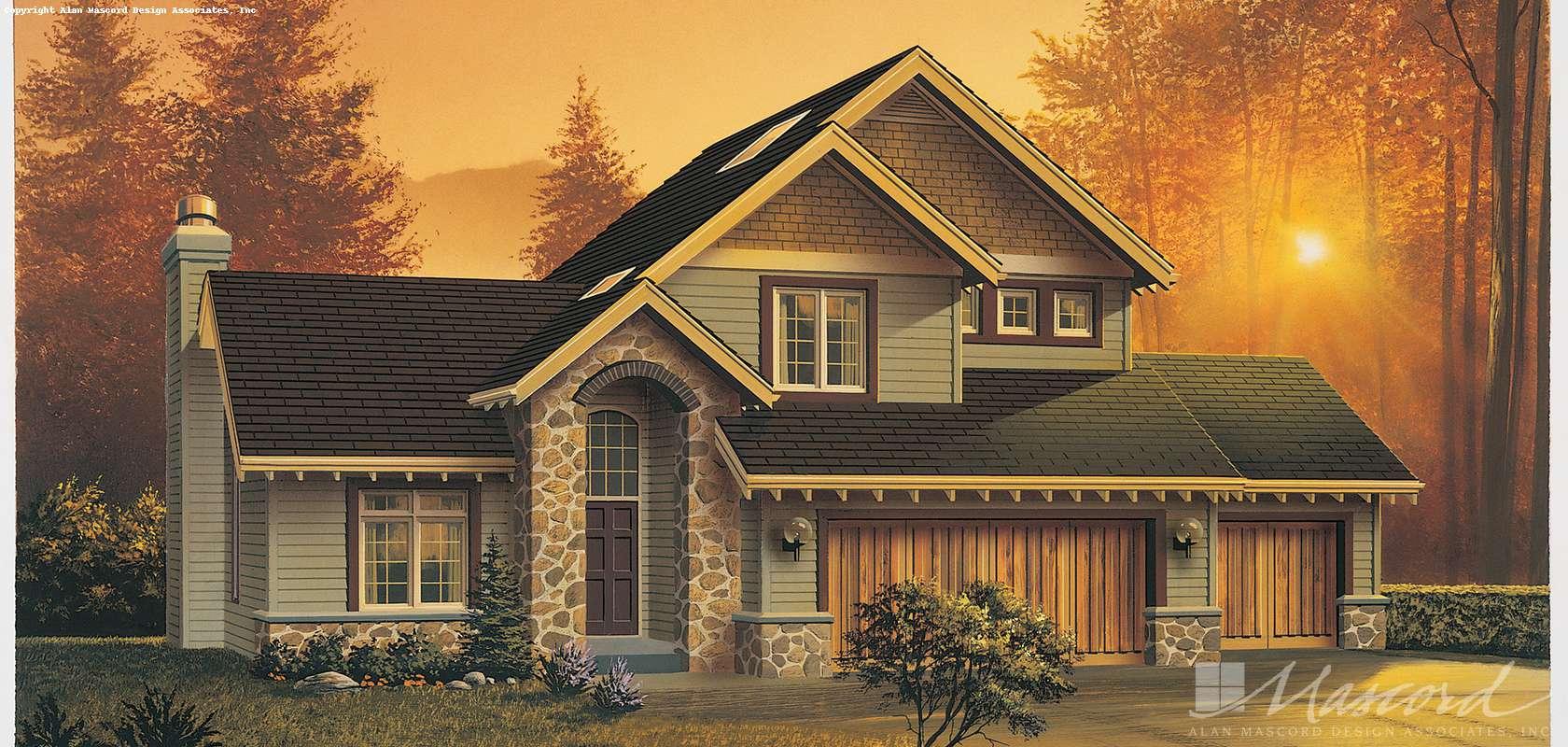 Mascord House Plan B2120C: The Larson