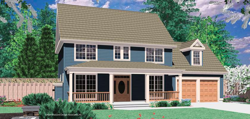 Mascord House Plan 2132H: The Mitchell