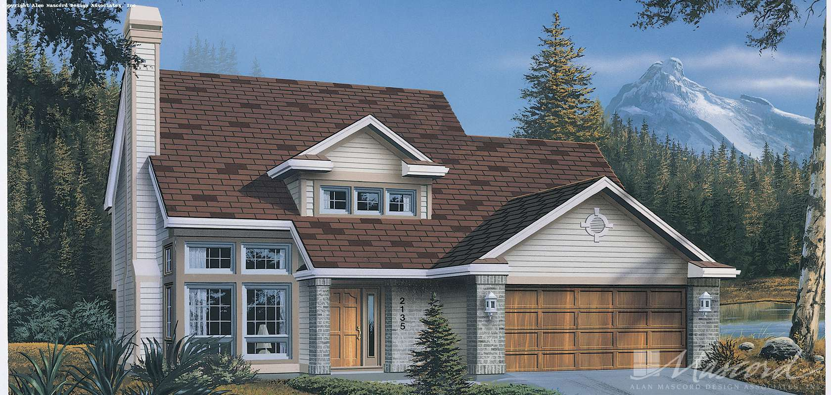 Mascord House Plan B2135: The Seville