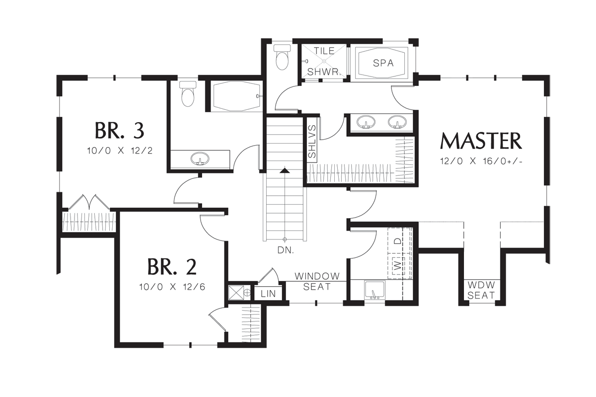 Craftsman house plan 2137ba the bailey 1882 sqft 3 for Large master suite floor plans