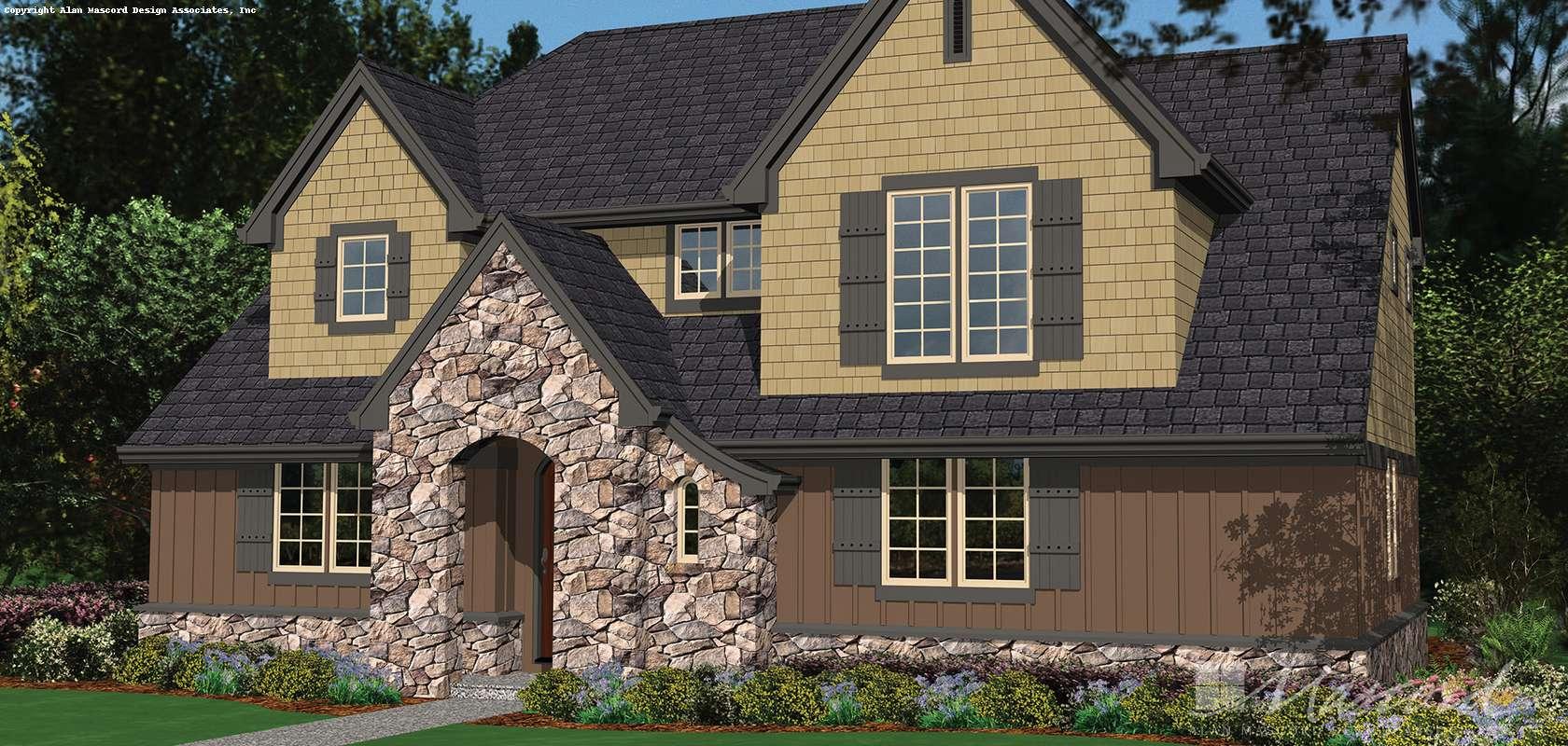 Mascord House Plan B2137BB: The Watts