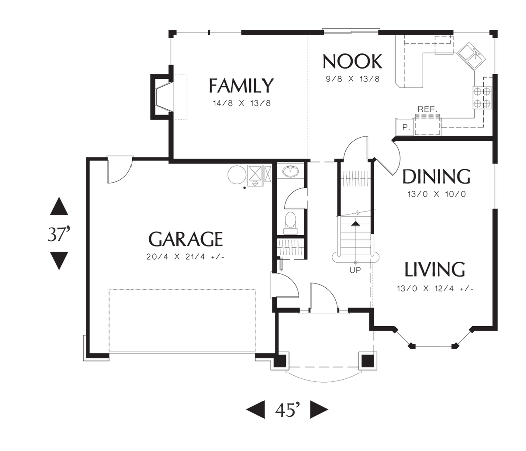 Efficient Kitchen Floor Plans: Traditional House Plan 2138 The Stayton: 1815 Sqft, 3 Beds