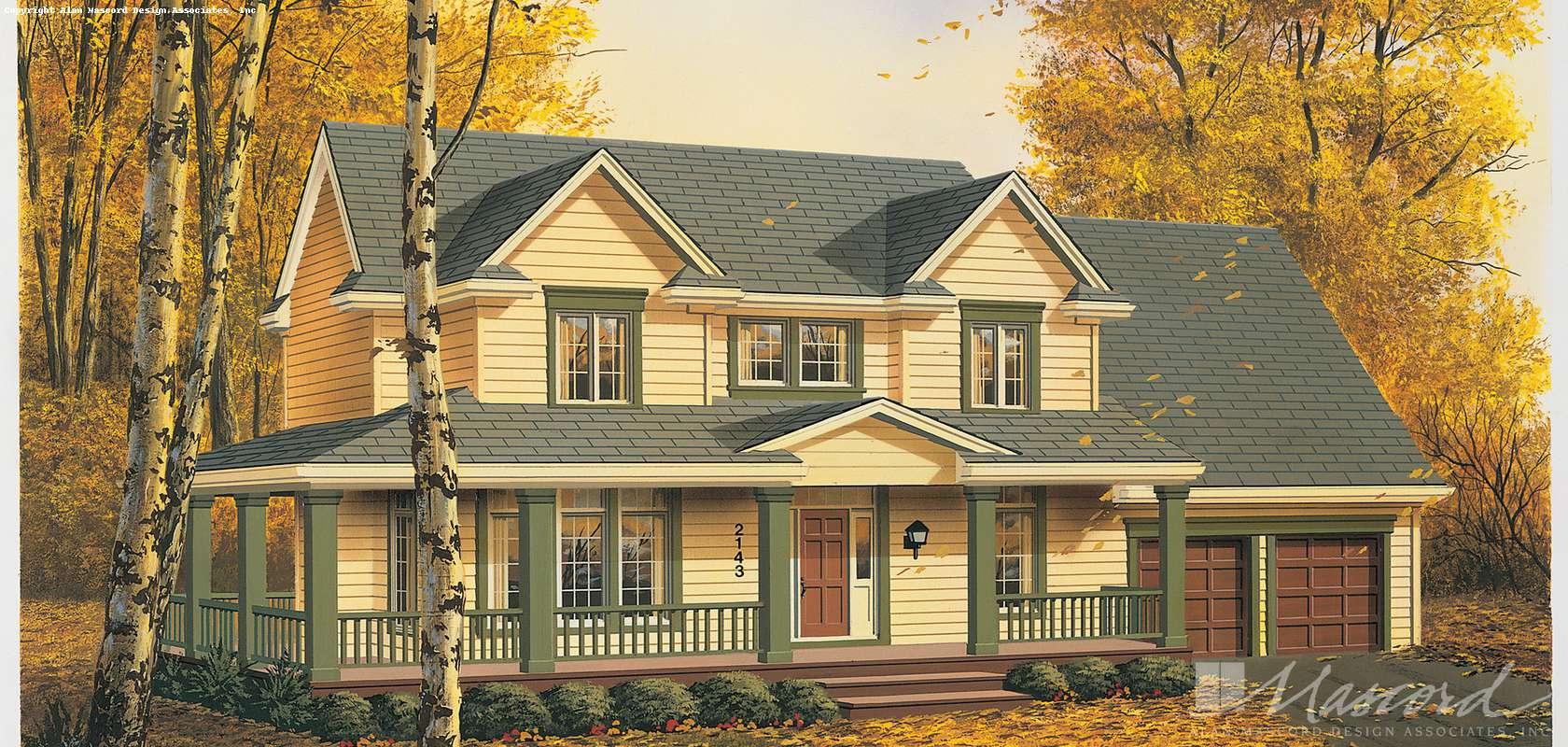 Mascord House Plan 2143: The Wilmington