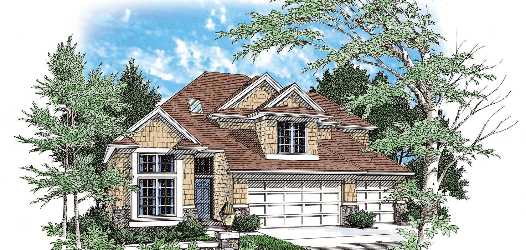 Mascord House Plan B2149C-Truss Roof: The Coburn