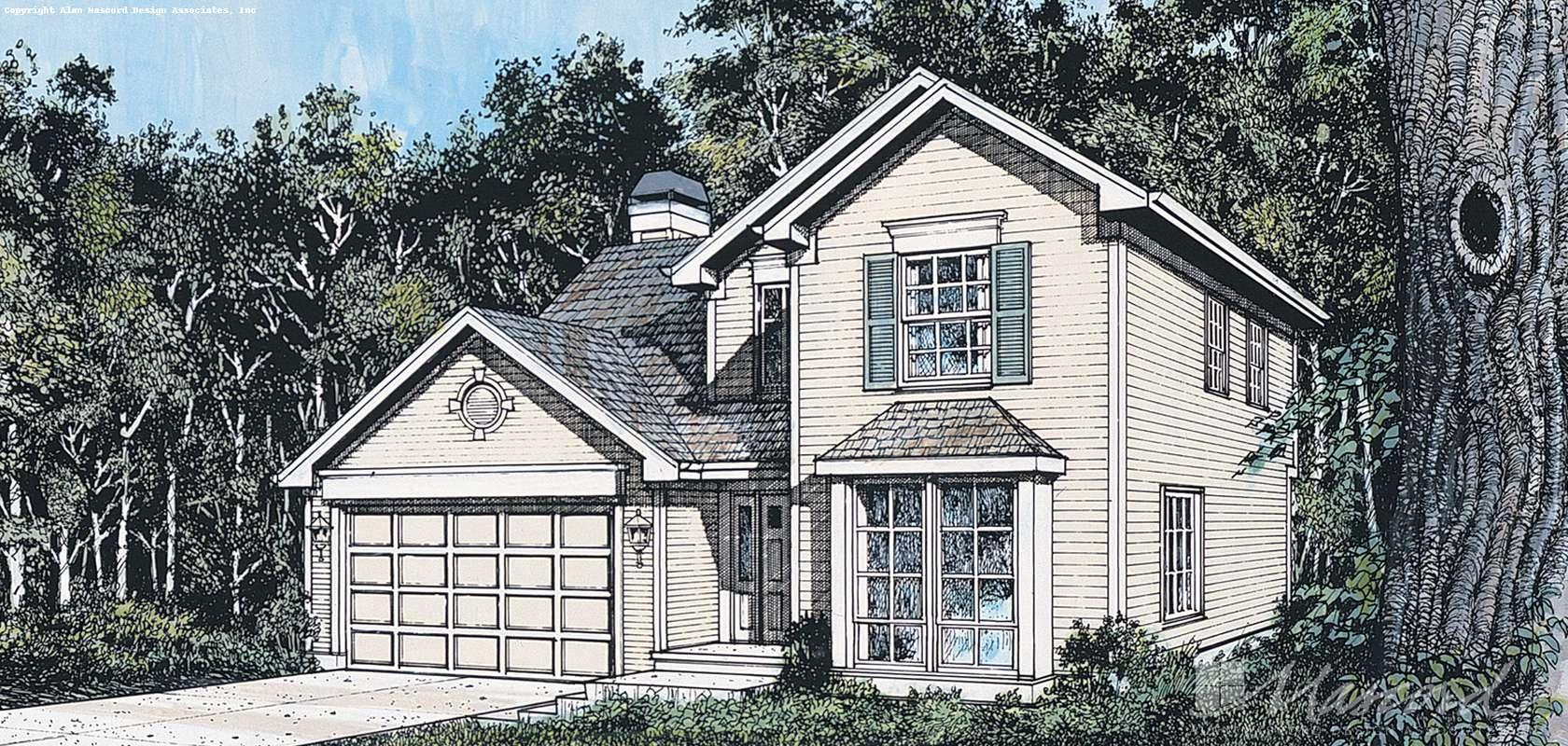 Mascord House Plan 2152: The Charleston