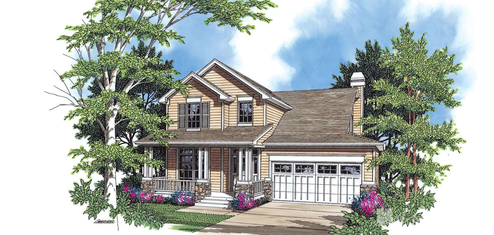 Mascord House Plan 2152C: The Clarkston