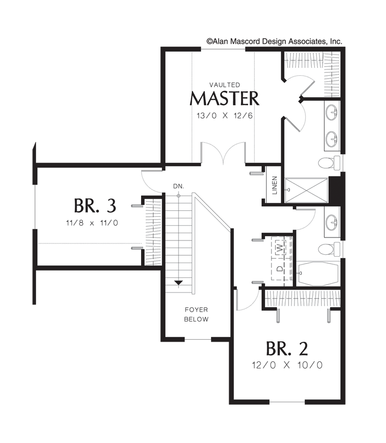 Mascord House Plan 2152 The Charleston