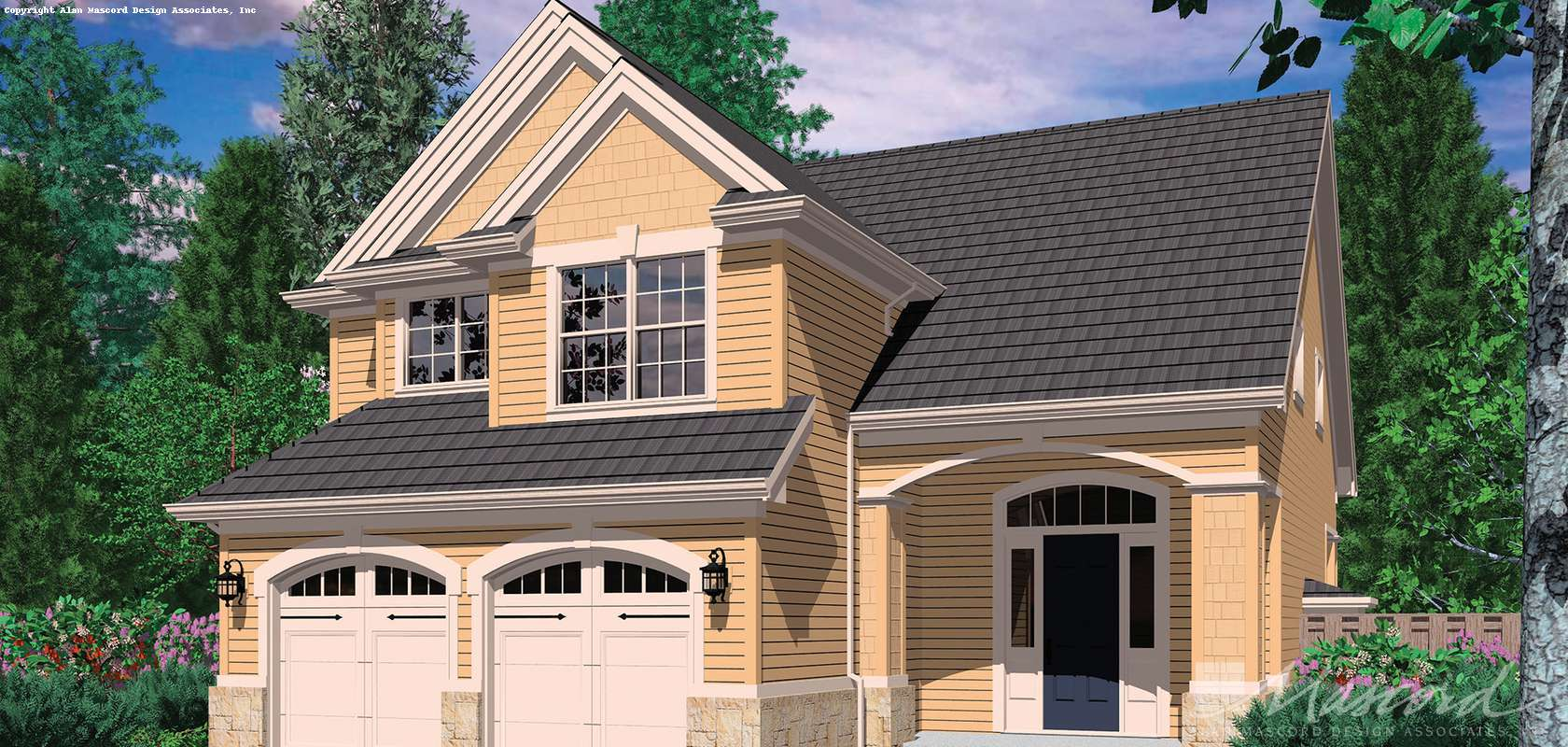 Mascord House Plan 2154F: The Corbett