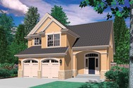 Front Rendering of Mascord House Plan 2154F - The Corbett