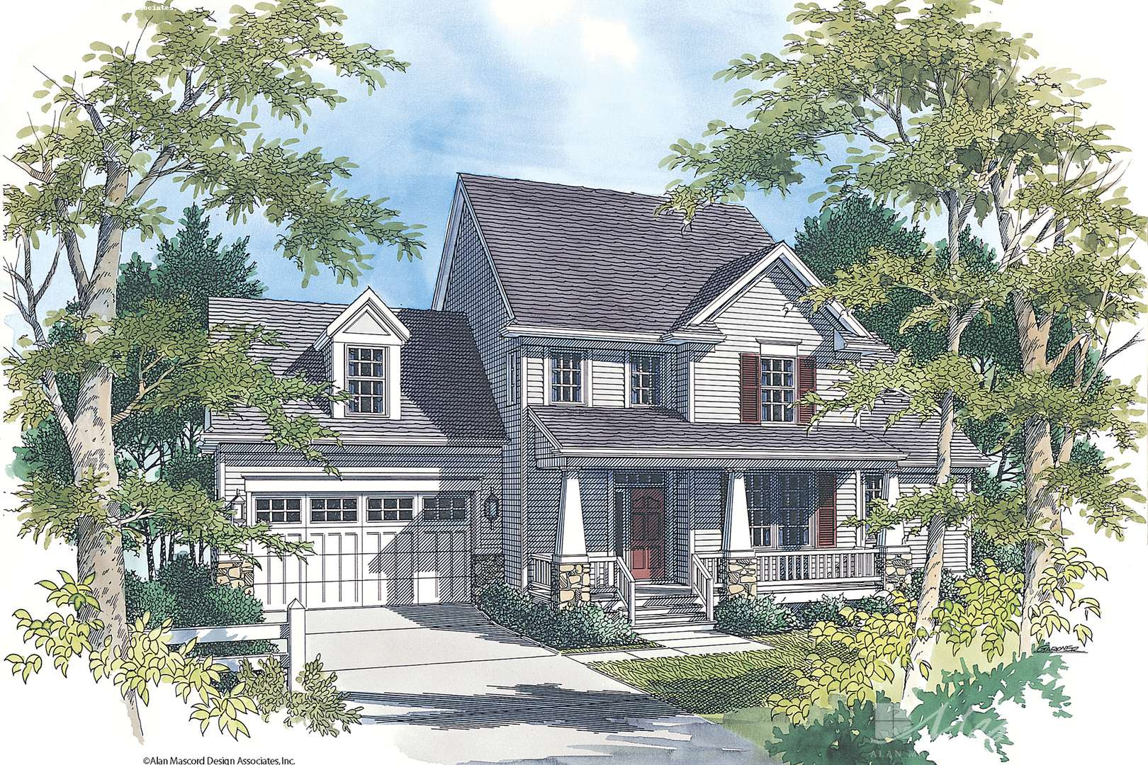 Awe Inspiring Country House Plan 2156 The Mannington 1957 Sqft 3 Beds Home Interior And Landscaping Palasignezvosmurscom