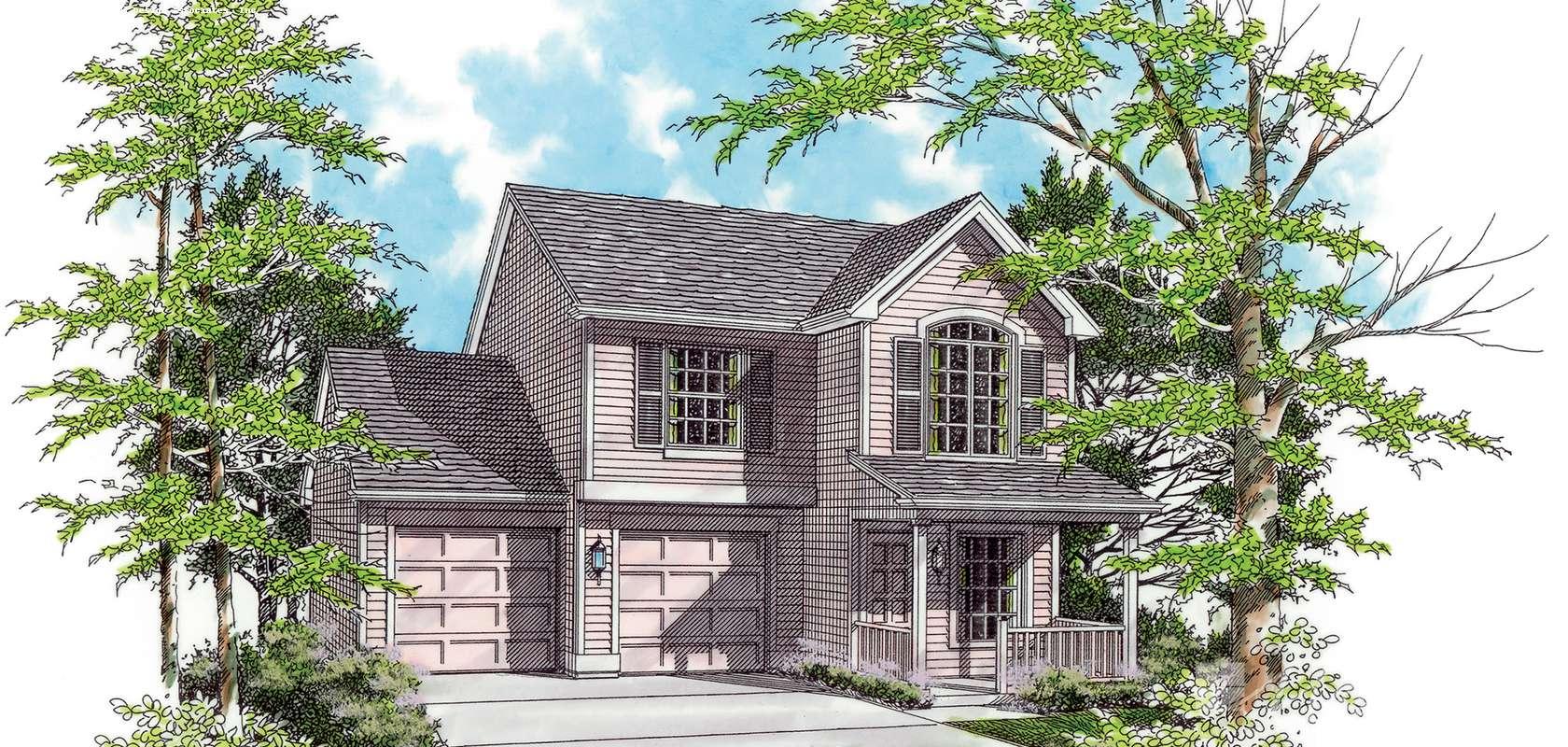 Mascord House Plan 2157: The Dayton