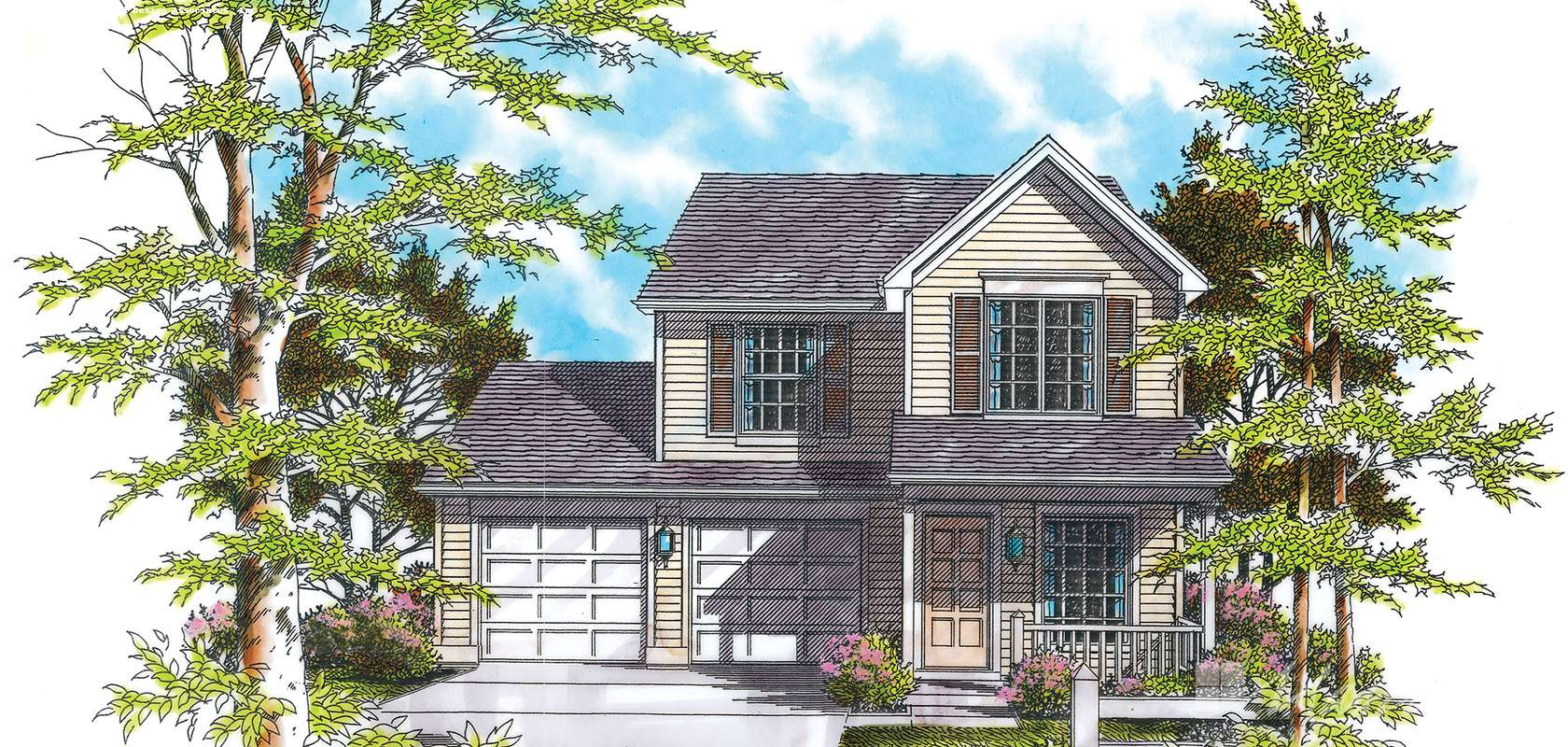Mascord House Plan 2157B: The Graham