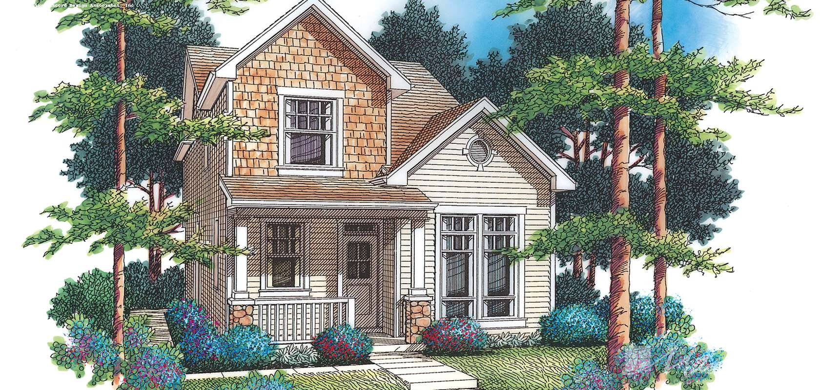 Mascord House Plan B2157L: The Ballard