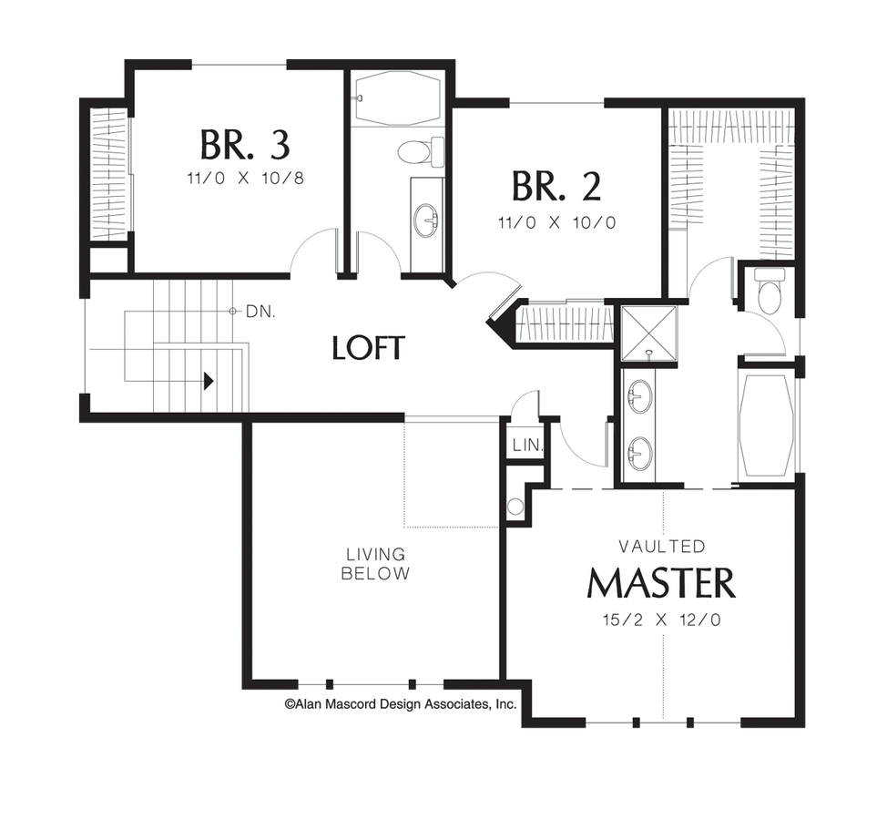 mascord house plan 2163ba the barton