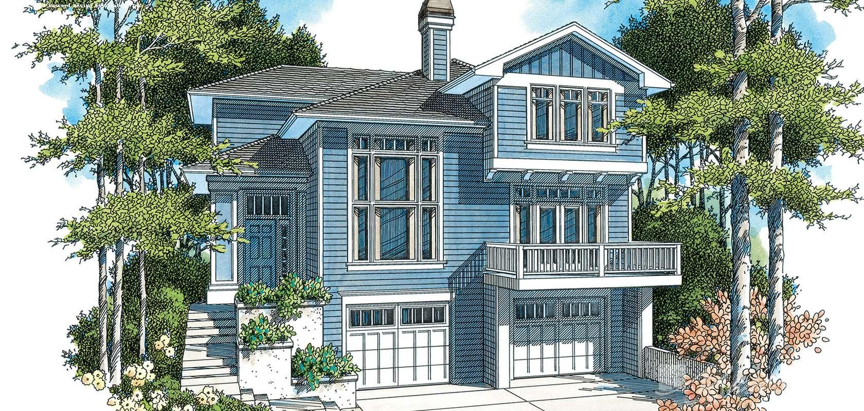 Mascord House Plan 2163BA: The Barton