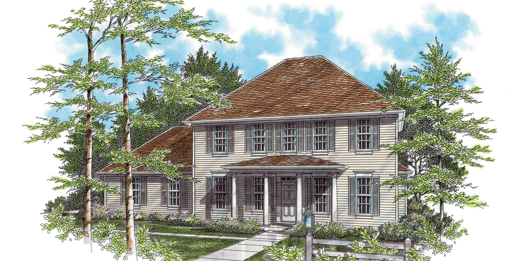 Mascord house plan 2166 the wallace for Wallace custom homes