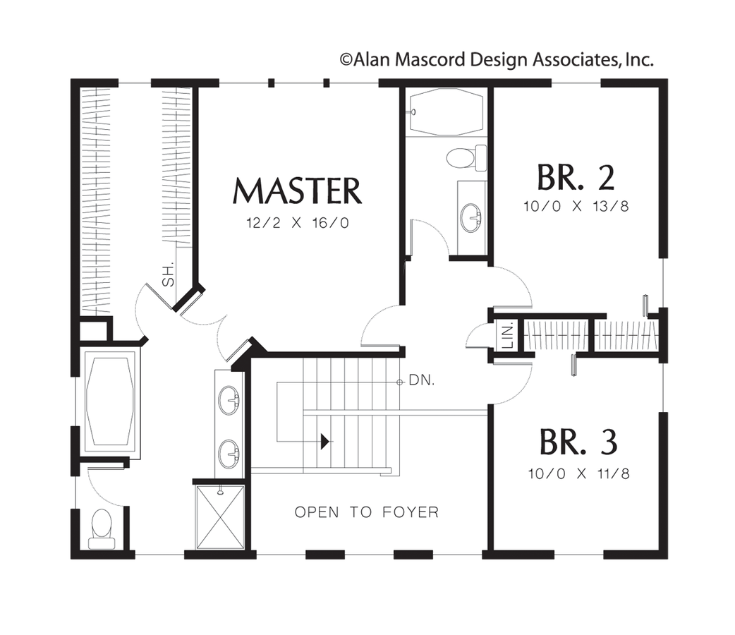 Craftsman house plan 2166 the wallace 1980 sqft 3 for Federal style house plans