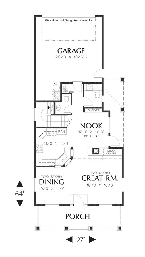 Mascord House Plan 2171B The Cottonwood