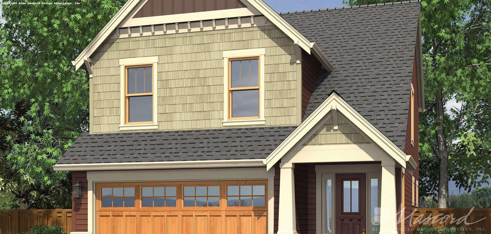 Mascord House Plan B2174B: The Monroe