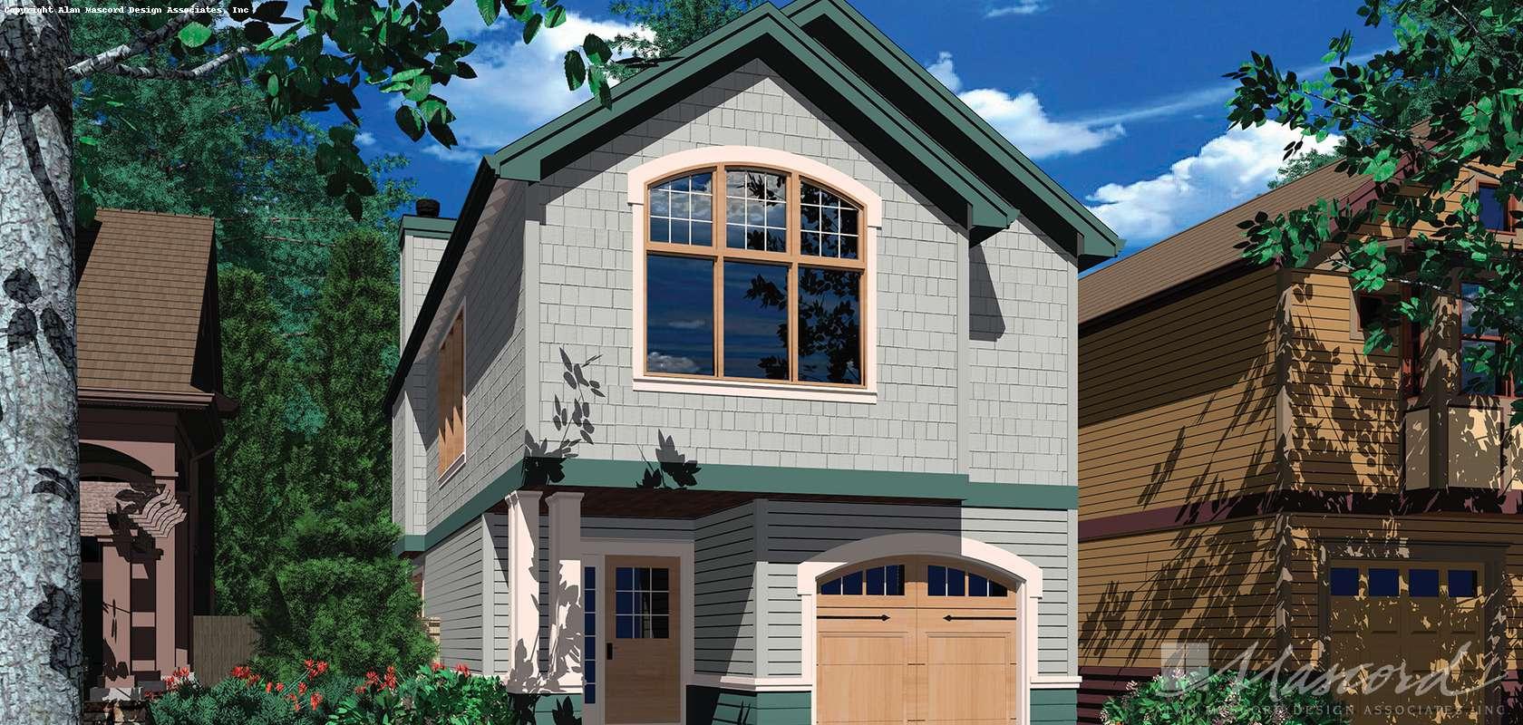 Mascord House Plan 2178A: The Landry