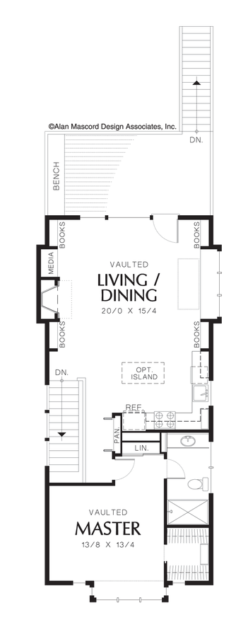 Image For Jamieson Reverse Living For A Flat, Narrow Lot Upper Floor Plan