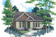 Front Rendering of Mascord House Plan 2184A - The Whitney